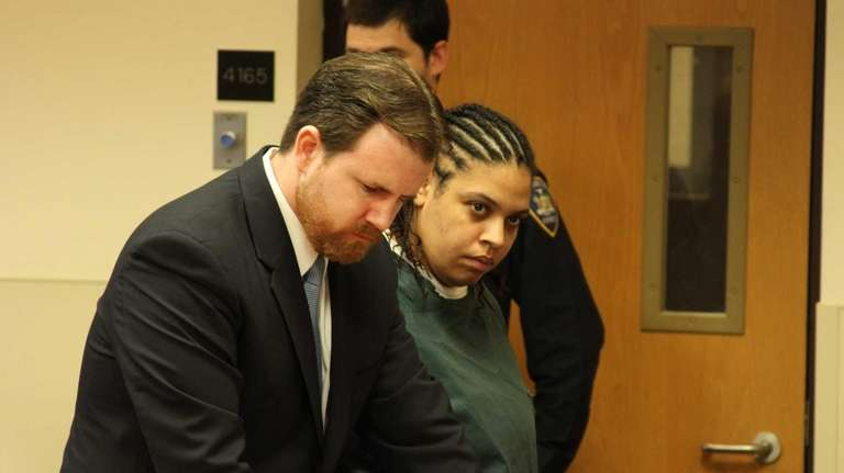 Kelly Mullen is arraigned at the Suffolk County