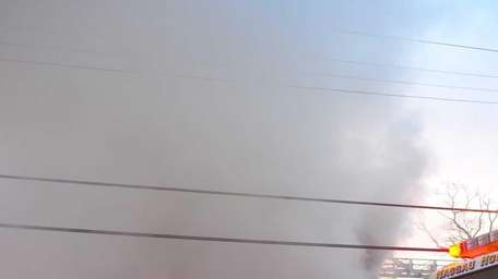 Two firefighters suffered smoke inhalation while fighting a