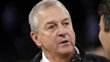 Former Connecticut basketball coach Jim Calhoun responds to