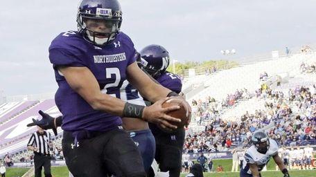 Northwestern quarterback Kain Colter wears APU for