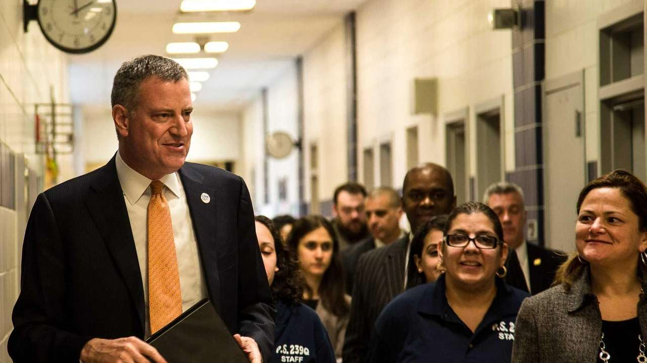 Mayor Bill de Blasio said that morale in