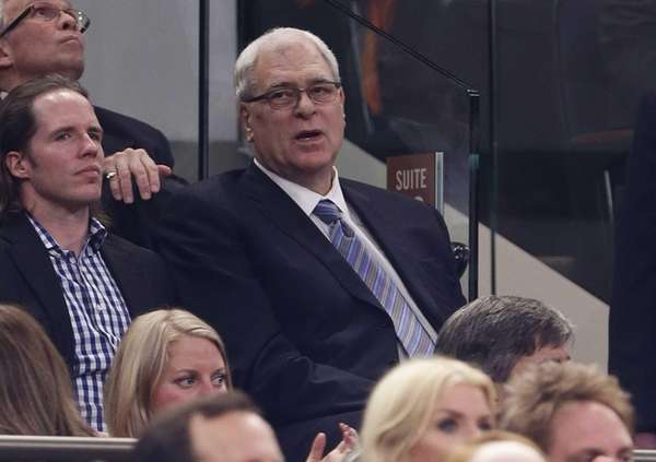 Knicks president of basketball operations Phil Jackson watches