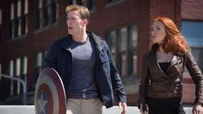 Chris Evans and Scarlett Johansson in