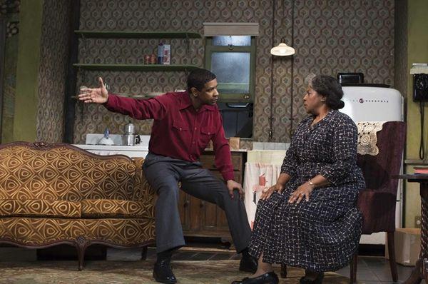Denzel Washington and LaTanya Richardson Jackson during a