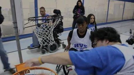 Wheelchair basketball players prepare for the Nassau Empire