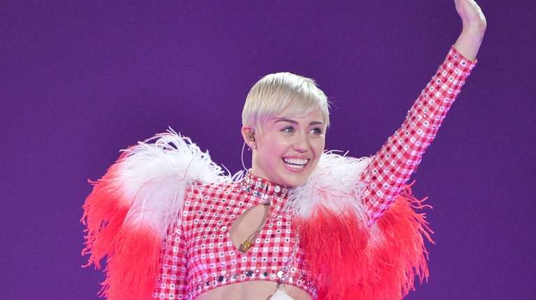 Miley Cyrus performs at Toronto's Air Canada Centre