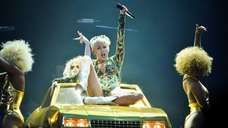 Miley Cyrus performs at the Air Canada Centre