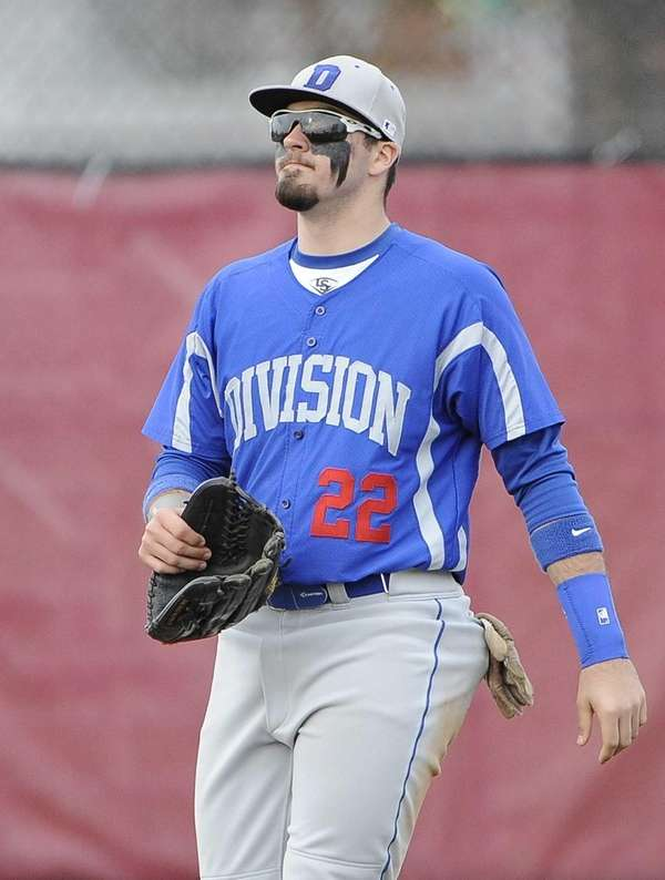 Division's Anthony Papa looks on from the outfield