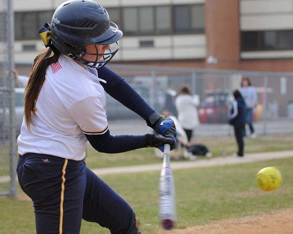 Massapequa 1B Amanda Considine hits an RBI triple