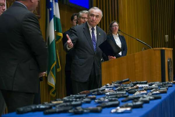 Weapons confiscated in a gun trafficking case are