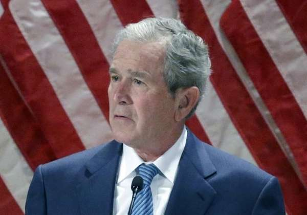 Former President George W. Bush speaking at the
