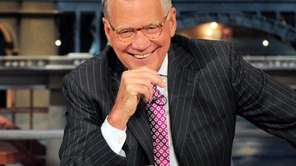 Host David Letterman during a taping of his