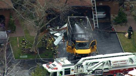 A Stanley Steemer truck caught fire in a