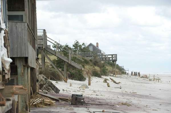 10-31-12 Ocean Beach, Fire Island was hit by
