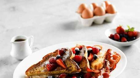 Berries and cream French toast is on the