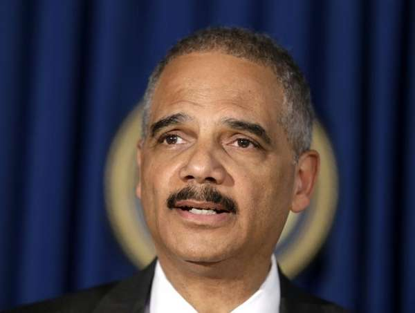U.S. Attorney General Eric Holder speaks during a