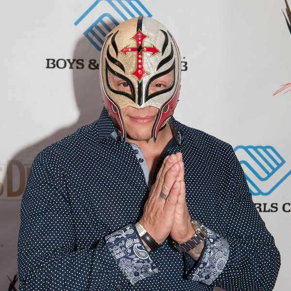 Rey Mysterio attends WWE's 2014 SuperStars For Kids
