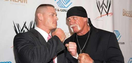 John Cena and Hulk Hogan attend WWE's 2014