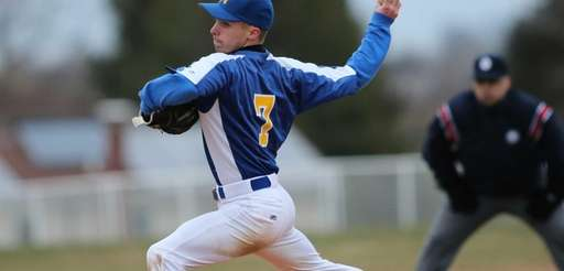 Mattituck relief pitcher Joe Tardif throws against Center
