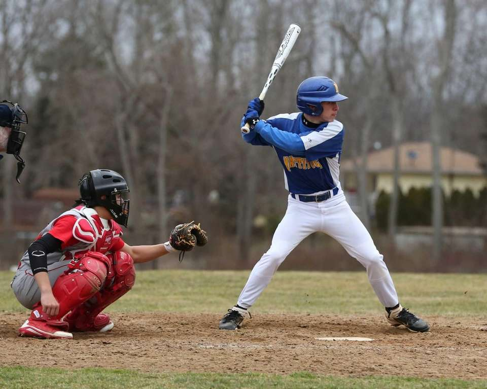 Mattituck's Joe Tardif hits an RBI double and