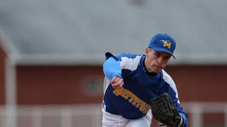 Mattituck relief pitcher Joe Tardif delivers a pitch