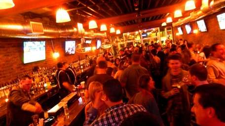 The crowd at Parlay Gastropub in Rockville Centre.