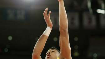 Montverde's D'Angelo Russell shoots during the National High