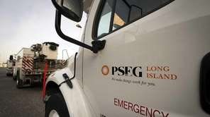 The first fleet of PSEG logo service trucks
