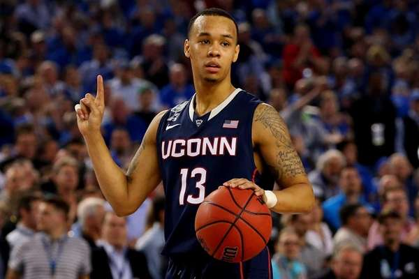 UConn's Shabazz Napier reacts during the NCAA Men's