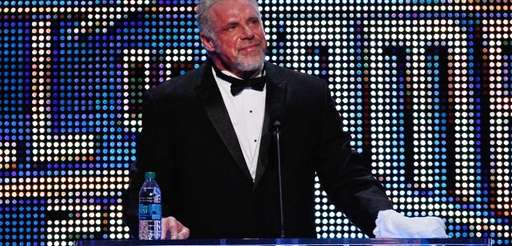 The Ultimate Warrior speaks during the WWE Hall