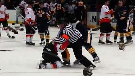 A bench-clearing brawl broke out during a charity