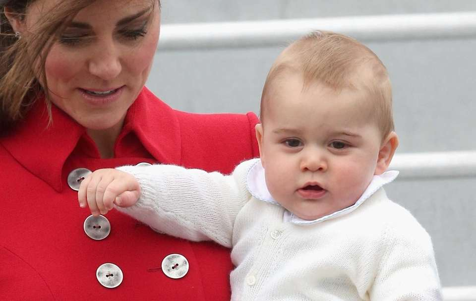 Catherine, duchess of Cambridge, and eight-month-old Prince George