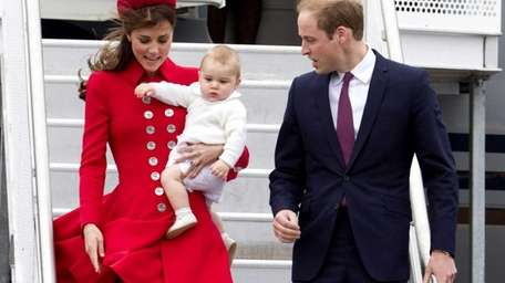 Prince William and Catherine, duchess of Cambridge, carrying