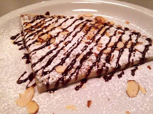 Dessert offerings at Fresco Creperie & Cafe in