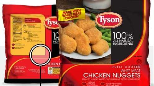 A Tyson company photo of its chicken nuggets