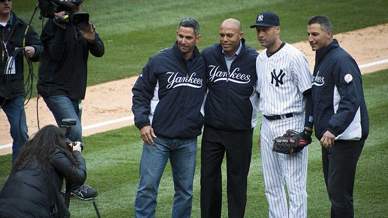 Former Yankees Jorge Posada, Mariano Rivera and Andy