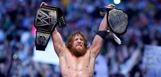 Daniel Bryan celebrates winning his second match