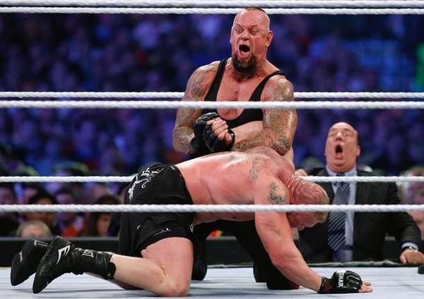 The Undertaker has the upper hand in his