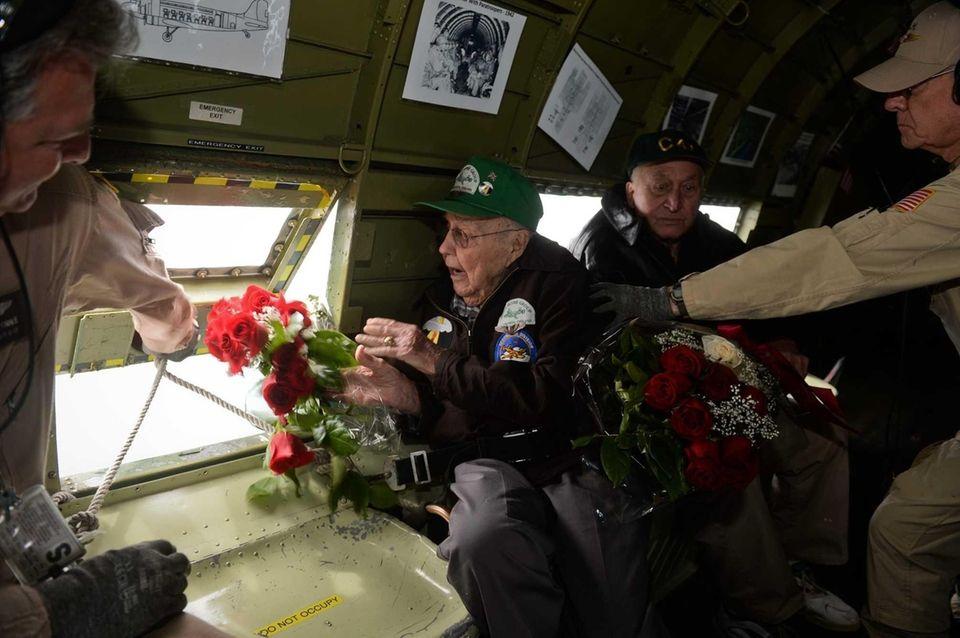 World War II veteran John McMullen, of Seaford,