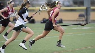 Garden City midfielder Haley O'Hanlon drives the ball