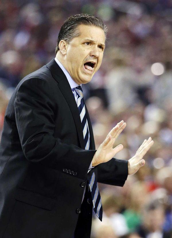 Kentucky head coach John Calipari works the sideline