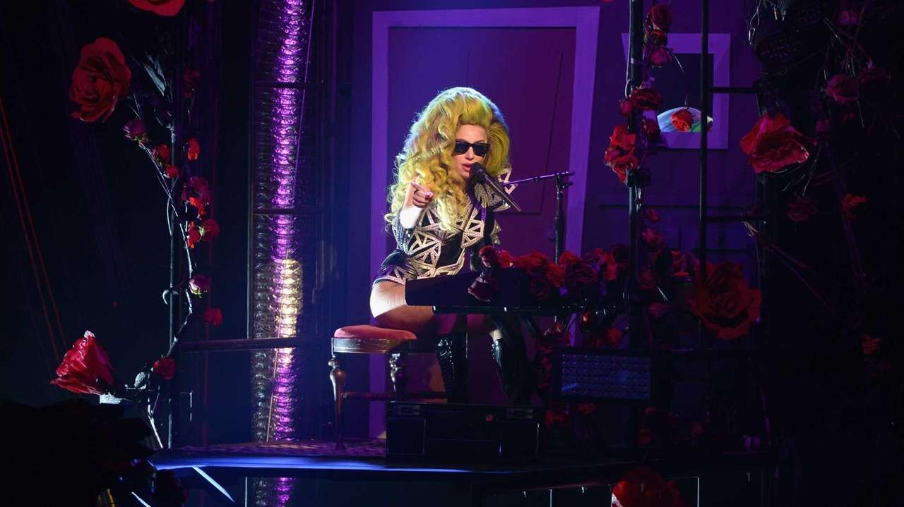 Lady Gaga performs onstage at Roseland Ballroom on