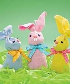 The Easter Bunny beanbag craft for kids can