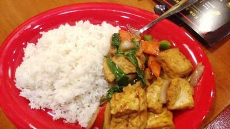 Thai basil with tofu and vegetables is a