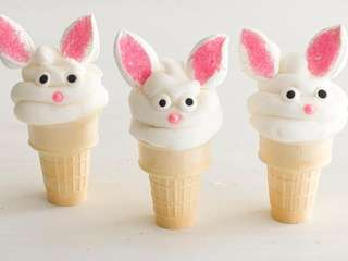 The Surprise Bunny Cones recipe can be found