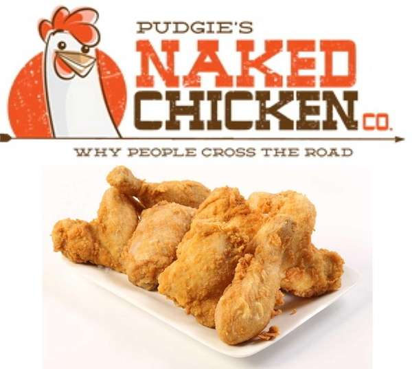 A new logo for Pudgie's Naked Chicken Co.