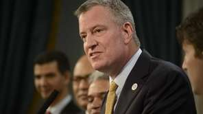 New York City Mayor Bill de Blasio, second