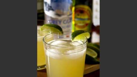 A Moscow mule, which uses lime and ginger
