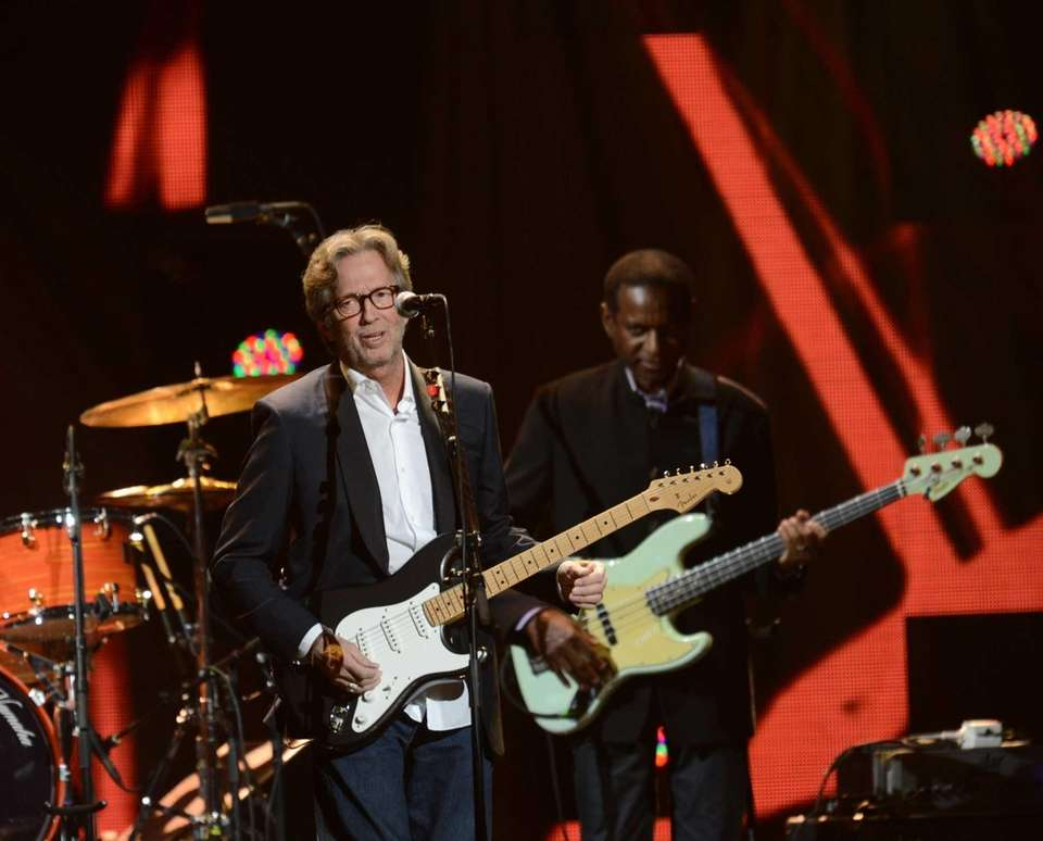 Eric Clapton was inducted three times: first with