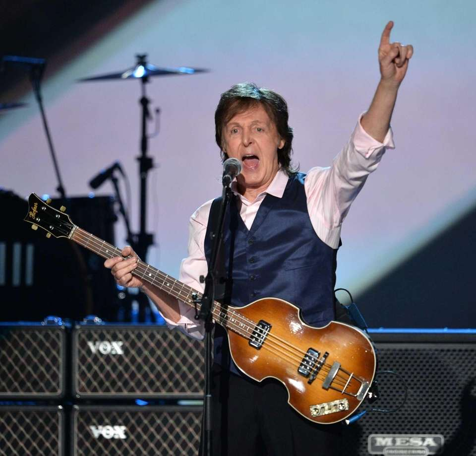 PAUL MCCARTNEY, twice: With The Beatles in 1988